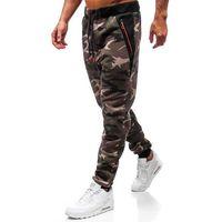 Spodnie męskie dresowe joggery moro khaki denley tc874, T&c star