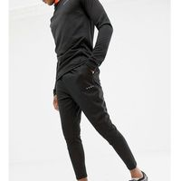 ASOS 4505 Tall skinny tapered joggers with bonded tech inner fleece - Black, kolor czarny
