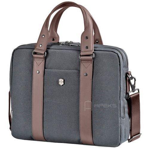 Victorinox Architecture Urban Bodmer 14 torba na laptop 14'' - Grey/Brown, kolor szary