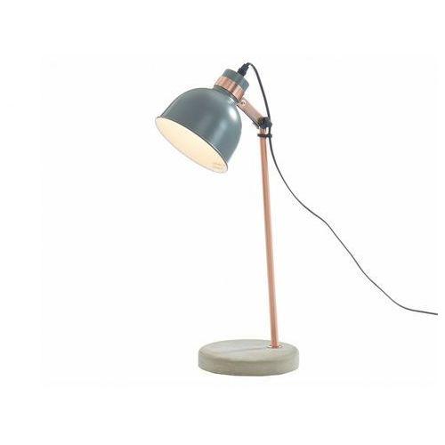 Lampa stojąca LUXIA w stylu vintage – beton i żelazo – wysokość 45 cm – kolor szary