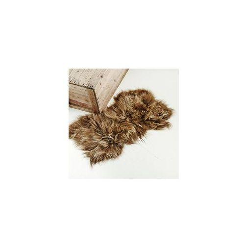 Taftyli Narzuta / dywan z owczej skóry - rudy