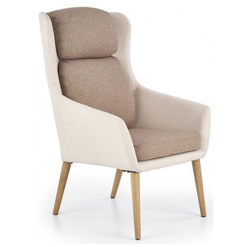 Fotel wypoczynkowy Kossan - beżowy, kolor beżowy