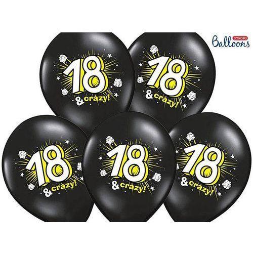 Twojestroje.pl Balon czarny 18 & crazy 30cm 1szt (5901157492548)