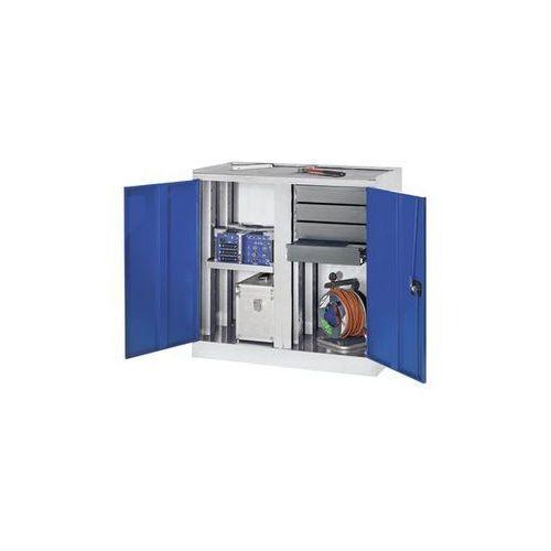 Quipo Szafy na narzędzia i szafy dostawne,4 szuflady, 1 półka, 1 środkowa ścianka działowa