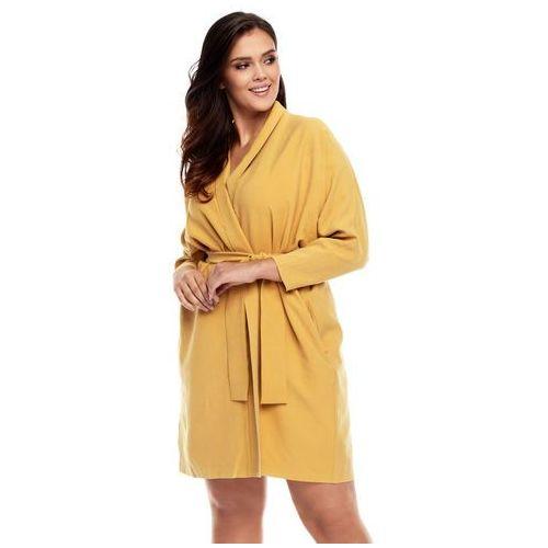 Sukienka Aiko w kolorze żółtym, w 3 rozmiarach