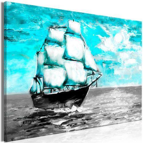 Obraz - Wiosenny rejs (1-częściowy) szeroki niebieski
