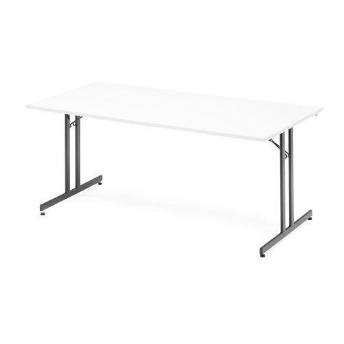 Stół konferencyjny Emily, składany, 1800x800 mm, biały, czarny