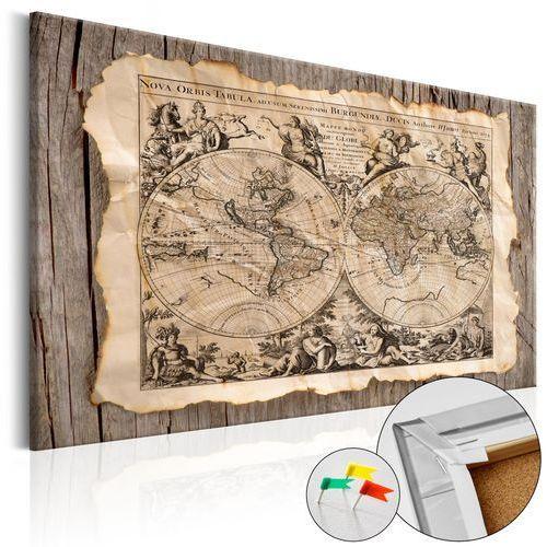 Obraz na korku - mapa przeszłości [mapa korkowa] marki Artgeist