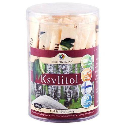Pięć przemian Ksylitol cukier brzozowy 200g w saszetkach 40x5g -