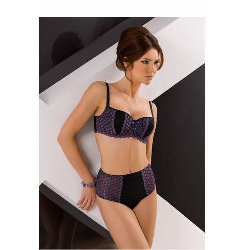 Biustonosz bardotka model vb-195 black/violet marki Vena