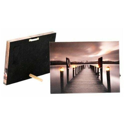 Obraz na płótnie LED Pier, 20 x 15 cm, 687888