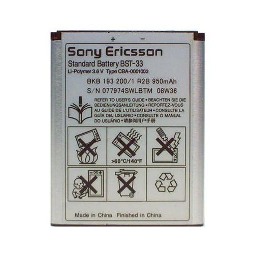 BATERIA ORYGINALNA SONY ERICSSON BST-33 (SATIO, NAITE, AINO, C702, C901, C903, K800I, K810I, W205, W300I, W715, W595)