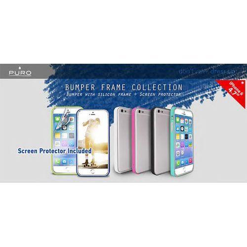 Obudowa PURO Bumper Cover iPhone 6 4.7 folia ochronna Szary - produkt z kategorii- Futerały i pokrowce do telefonów