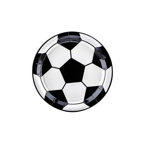 Partydeco Talerzyki jednorazowe piłka nożna, 18 cm