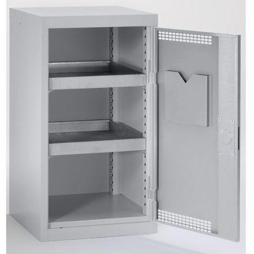 Szafa ekologiczna, drzwi perforowane, wys. x szer. x głęb. 900x500x500 mm, 2 pół marki Stumpf-metall