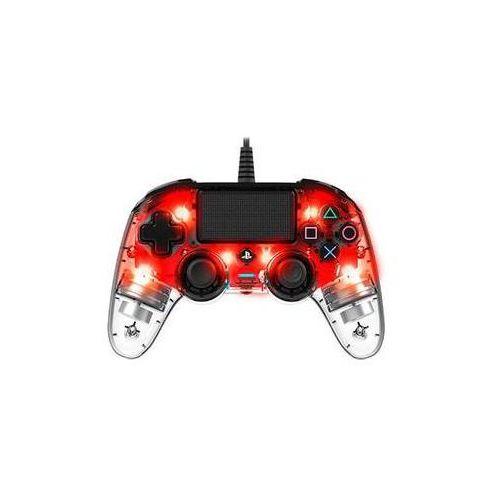 Gamepad Nacon Wired Compact Controller pro PS4 (ps4hwnaconwicccred) Czerwony/przezroczysty