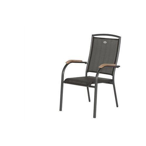 Krzesło ogrodowe w kolorze xerix/black grey | raffaelo | podłokietniki z drewna tekowego marki Hartman