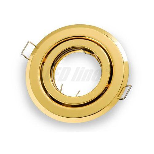 Led line Oprawa halogenowa sufitowa okrągła ruchoma, tłoczona - złota (5901583242755)