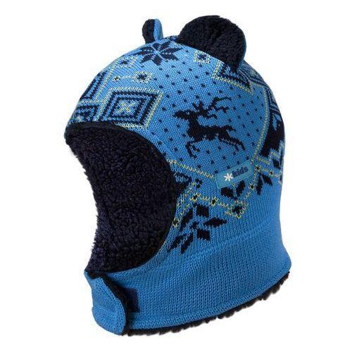 Dziecięca dzianinowa czapka kominiarka Kama B62 115 turkusowa