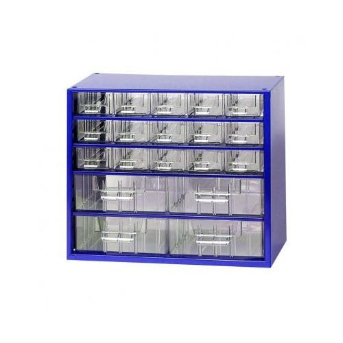 Metalowe szafki z szufladami, 15+4 szuflad