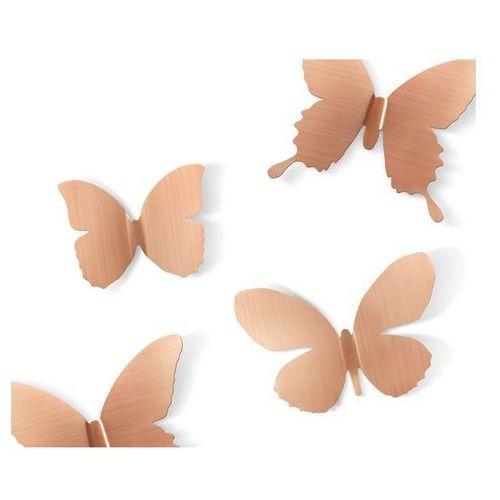 Dekoracja ścienna  metal mariposa copper 9 elementów marki Umbra