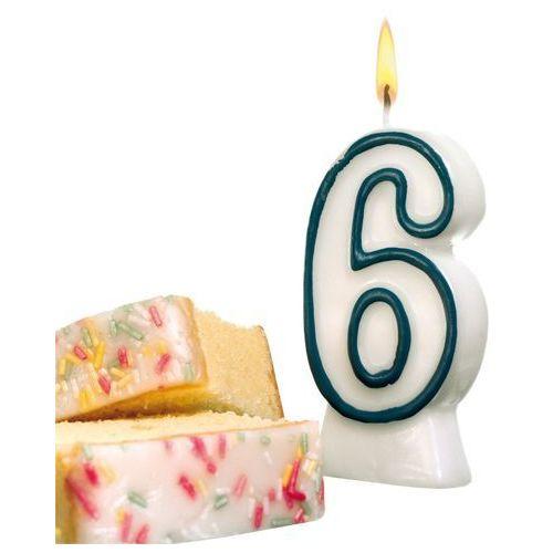 Świeczka na tort urodziny cyfra 6 7,7cm susy-card - cyfra 6 marki Pelikan