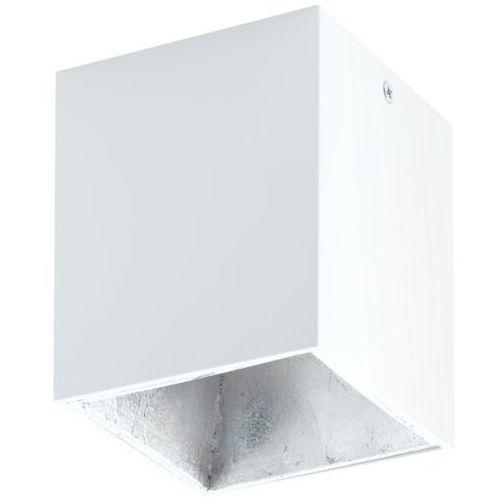 Downlight lampa sufitowa polasso 94499  natynkowa oprawa kwadratowa plafon led 3w biała marki Eglo