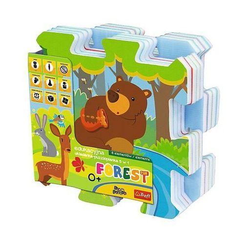 Edukacyjna układanka-puzzlopianka 5w1- las marki Trefl