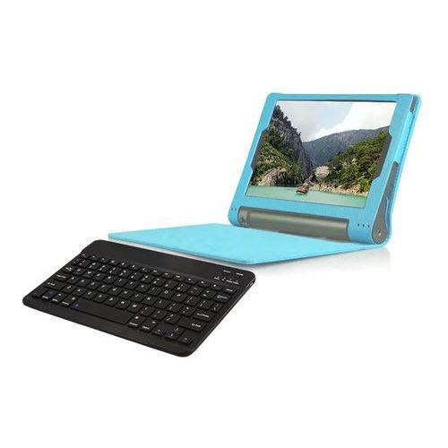 Etui na magnes Lenovo Yoga tab 3 10 X50 niebieskie +klawiatura - Niebieski, kolor niebieski