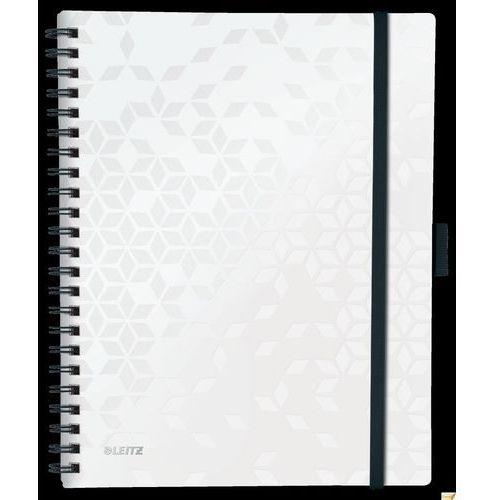Kołonotatnik z 3 zakładkami be mobile wow a4, w kratkę, biały marki Leitz