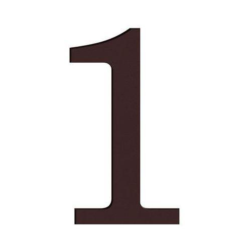 Cyfra 1 wys. 18 cm PVC brązowa (5906711250084)