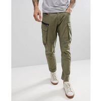 engineered cargo pants - green, Replay