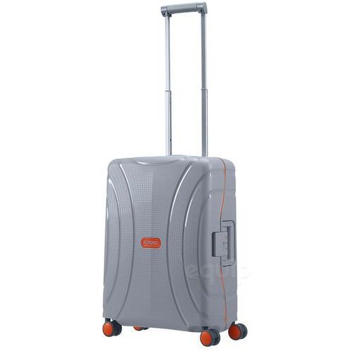 American tourister Walizka kabinowa lock'n'roll + gratis poduszka podróżna - volt grey