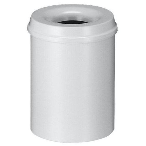Kosz na papier, samogaszący, poj. 15 l, korpus szary / głowica gasząca szara. pr marki Vepa bins