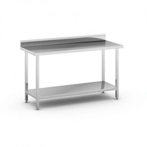 B2b partner Stół roboczy ze stali nierdzewnej z półką, 1500 x 600 x 850 mm