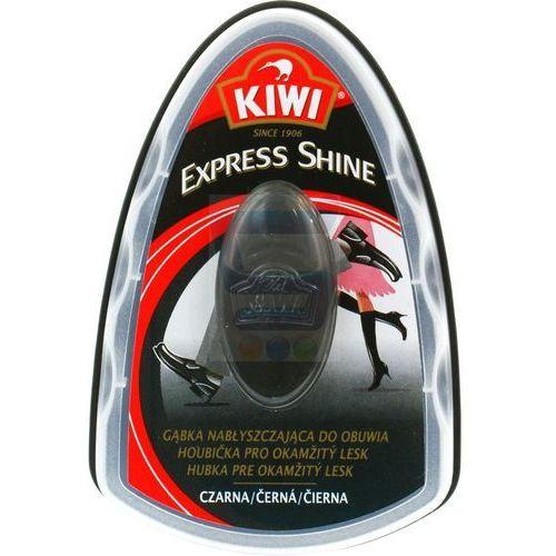 KIWI Express Shine Czarna Gąbka nabłyszczająca do obuwia