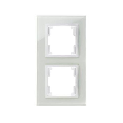Elektroplast volante ramka 2x szklana biały 2672-62