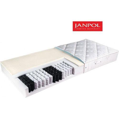 JANPOL AFRODYTA - materac kieszeniowy, sprężynowy, Rozmiar - 140x190, Pokrowiec - Medicott Silverguard WYPRZEDAŻ, WYSYŁKA GRATIS
