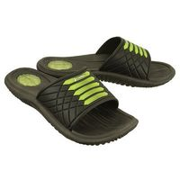 RIDER 82327 MONTANA VII AD 23680 black/black/green, klapki męskie, kolor zielony