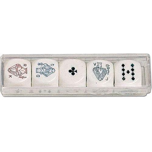 Piatnik, kości do gry, Pokerowe (22mm) (9001890298790)