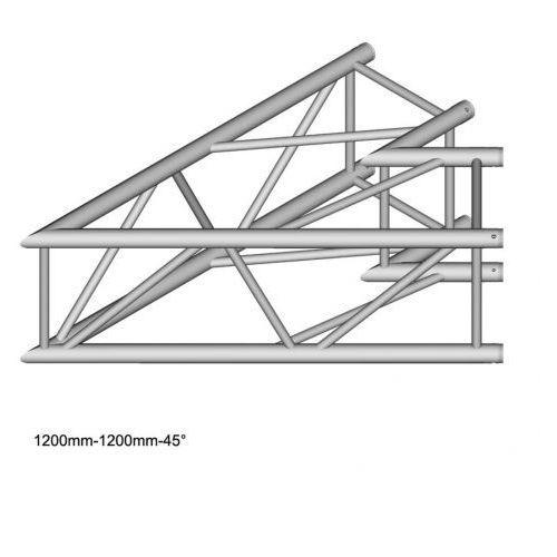 dt 44/2-c19-l45 element konstrukcji aluminiowej, narożnik 45st 120cm marki Duratruss
