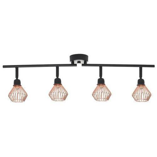Lampa sufitowa czarna/miedziana VOLGA L (4260624116693)