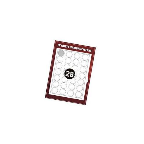 Etykiety samoprzylepne białe Okrągłe FI 40 (100)