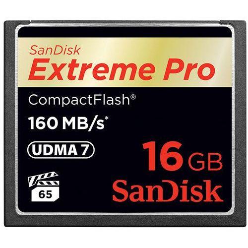 Karta pamięci SanDisk Compact Flash Extreme 16GB (CF) 160MB/s 1067x - sprawdź w wybranym sklepie