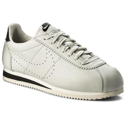 Nike Buty - classic cortez leather prem 861677 007 light bone/light bone/black