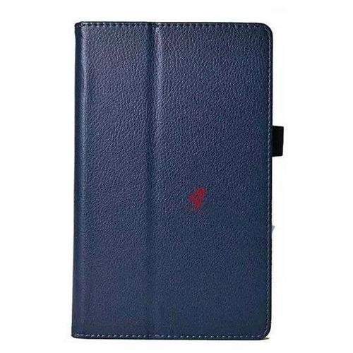 Etui book cover / stojak do Samsung Galaxy Tab S 8.4 Granatowe - Granatowy, kolor Granatowy