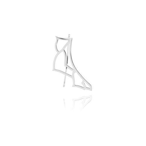 Nausznica Cytherea srebrna, kolor szary