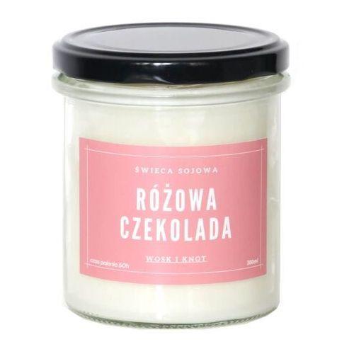 Świeca sojowa różowa czekolada - aromatyczna ręcznie robiona naturalna świeca zapachowa w słoiczku 300ml marki Cup&you cup and you
