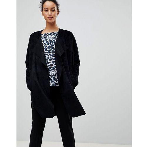 See U Soon Trench Style Coat - Black, kolor czarny