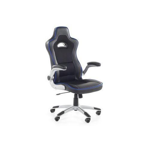 Krzesło biurowe czarno-niebieskie - obrotowe - dla graczy - master marki Beliani